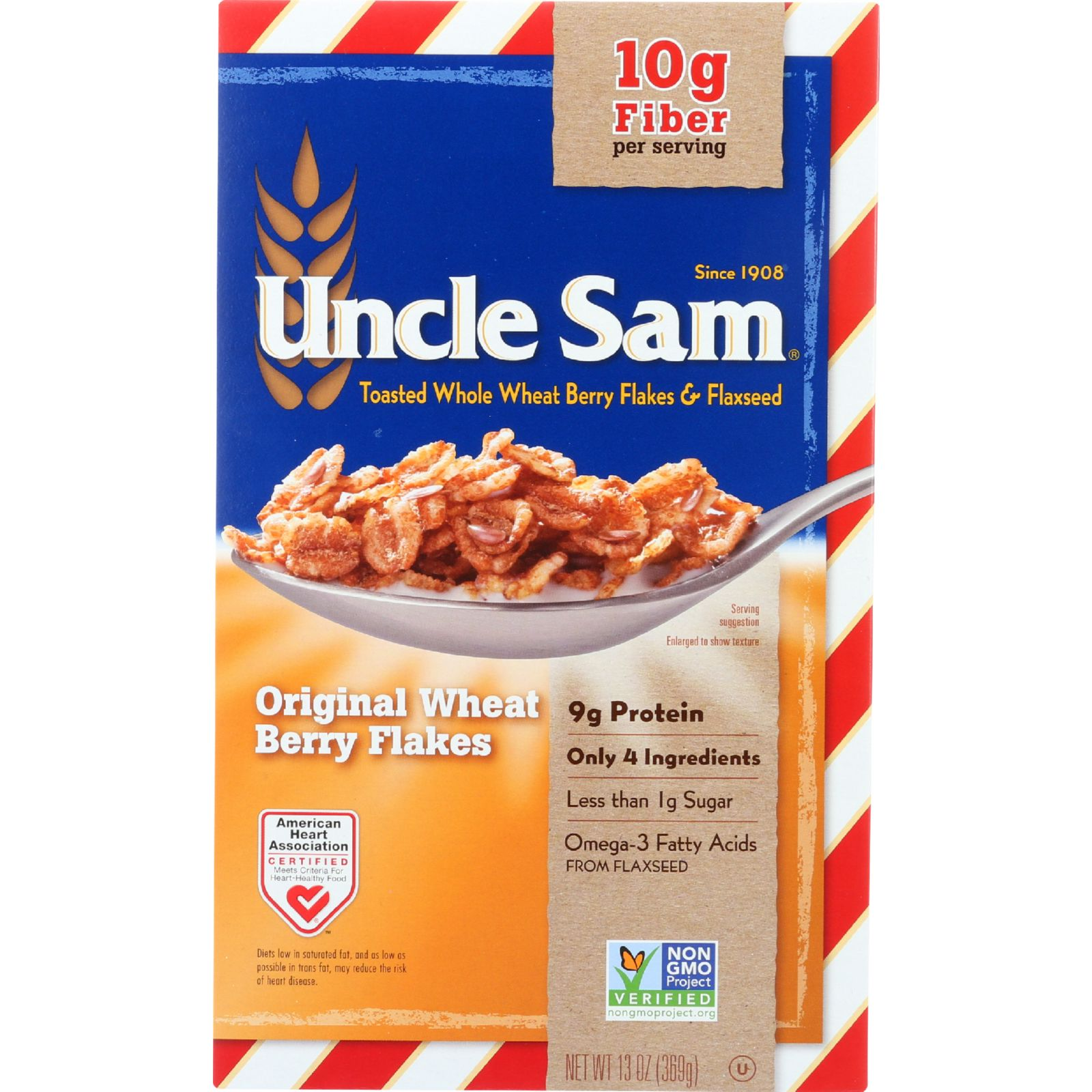 Uncle Sam Cereal Cereal - Original - Family Size - 13 oz