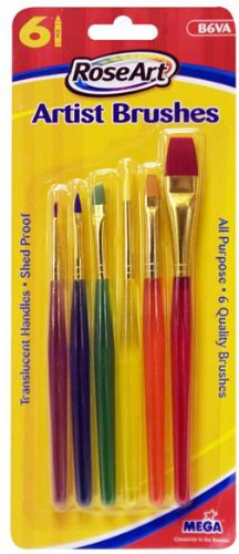 Roseart Artist Brushes With Translucent Barrels Assorted
