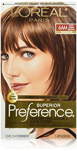 L Oreal Paris Superior Preference Fade Defying Color Shine System 6am Light Amber Brown Bulk America